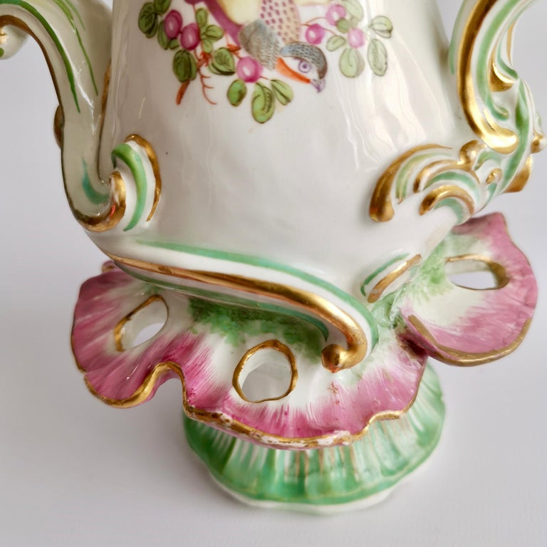 Porcelain Frill Vase in 18thC Chelsea Style Attr. to Edmé Samson, Rococo 19thC For Sale 5