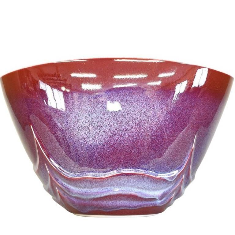 Porcelain Glazed Decorative Vase by Japanese Master Artist