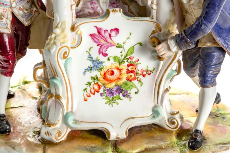 18th Century and Earlier Porcelain Group, Germany For Sale