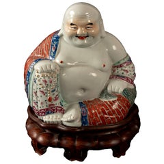 Porcelain Hotei or Laughing Buddha Statue