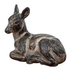 Porcelain Huge Deer Figurine Royal Copenhagen, 1950s, Design by Knud Khyn
