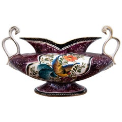 Porcelain Jardiniere Vase by H. Bequet, Belgium, 1950s