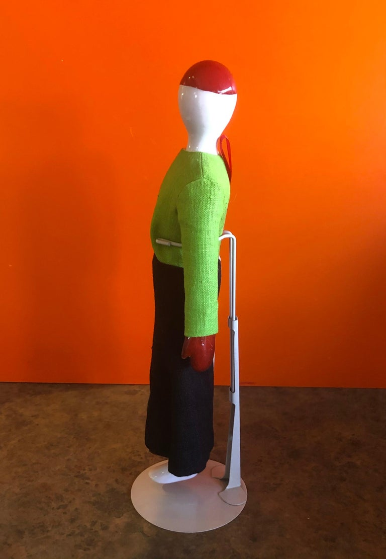 20th Century Porcelain and Linen Russian Avante Garde Doll with Stand by Kazimir Malevich For Sale