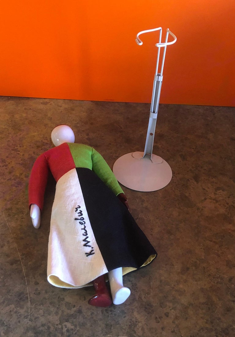 Porcelain and Linen Russian Avante Garde Doll with Stand by Kazimir Malevich For Sale 3