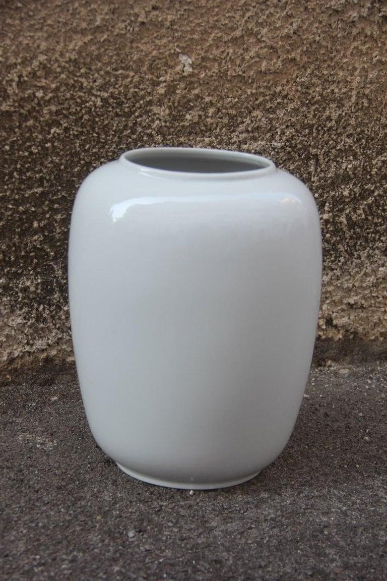 Mid-Century Modern Porcelain Midcentury Italian Vase Guido Andloviz for Verbano Lavenia, 1950 For Sale