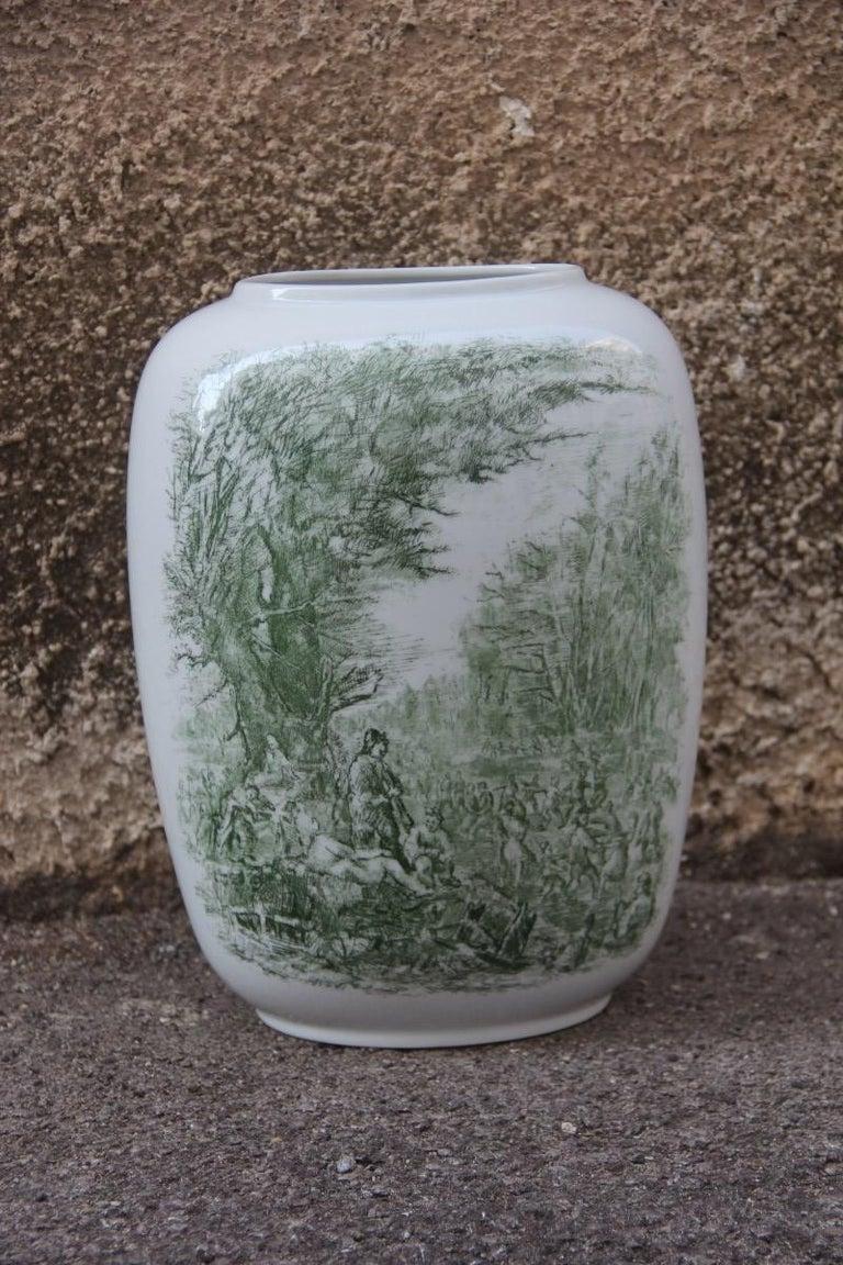 Mid-20th Century Porcelain Midcentury Italian Vase Guido Andloviz for Verbano Lavenia, 1950 For Sale