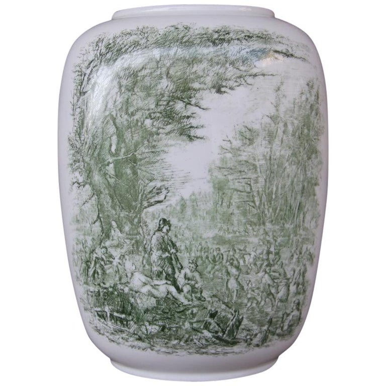Porcelain Midcentury Italian Vase Guido Andloviz for Verbano Lavenia, 1950 For Sale
