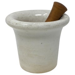 Porcelain Mortar and Pestle from France