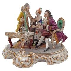 Porcelain Musicians Scene, 19th Century
