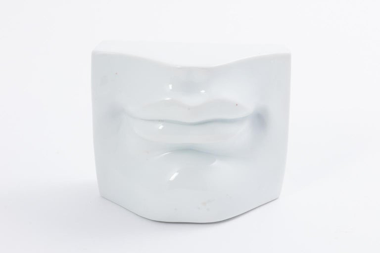 Porcelain Nose and Mouth Wall Sculpture by Fabienne Jouvin For Sale 2