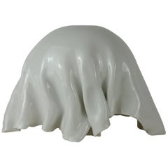 Porcelain Object with White Glossy Glaze