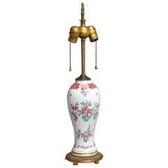 Porcelain Ormolu Mounted Chinese Lamp