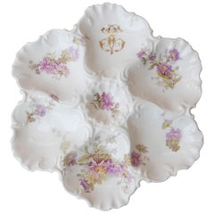 Porcelain Oyster Plate Limoges, circa 1920