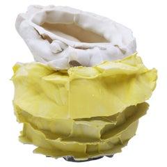 Porcelain & Parian Vase Handsculpted by Monika Patuszyńska