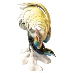 Porcelain Parrot by Karl Ens, Germany, Late 19th Century