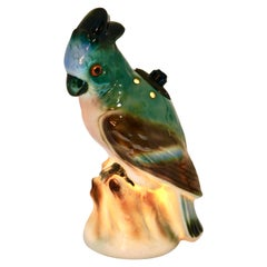 Porcelain Parrot Figurine, Perfume or Bedside Lamp, 'Germany, 1930s'