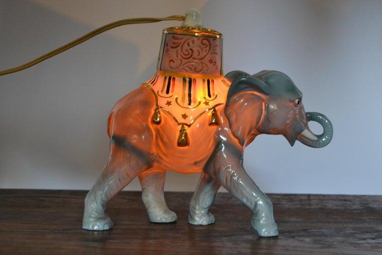 Porcelain Perfume Lamp Elephant Shaped , Germany , 1950s For Sale 11