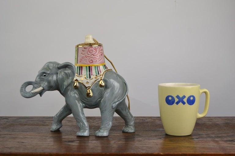 Porcelain Perfume Lamp Elephant Shaped , Germany , 1950s For Sale 12