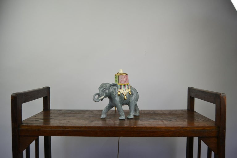 Porcelain Perfume Lamp Elephant Shaped , Germany , 1950s For Sale 13