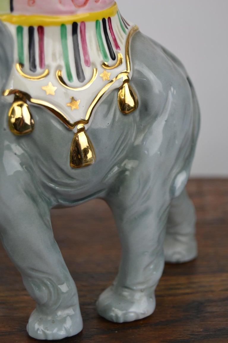 Porcelain Perfume Lamp Elephant Shaped , Germany , 1950s For Sale 1