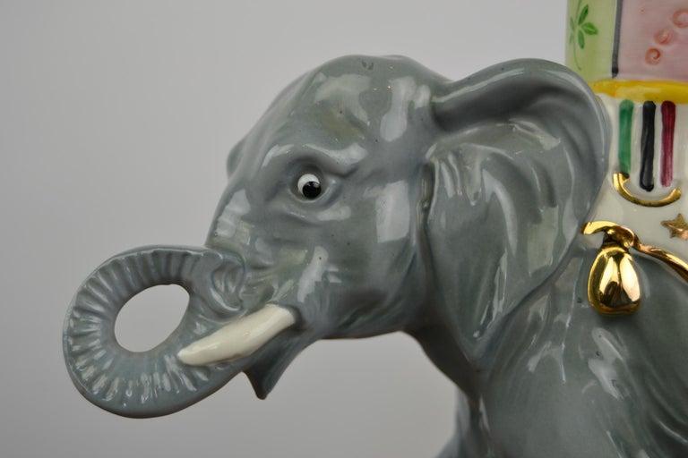 Porcelain Perfume Lamp Elephant Shaped , Germany , 1950s For Sale 3