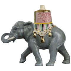Porcelain Perfume Lamp Elephant Shaped , Germany , 1950s