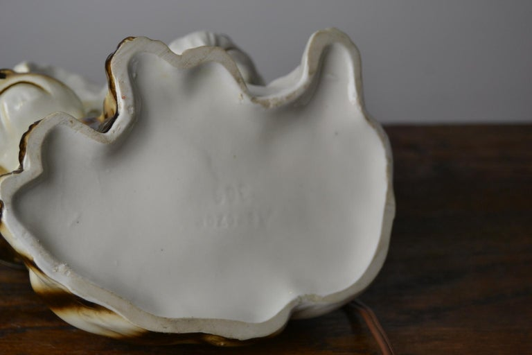 Porcelain Perfume Lamp with Two Dogs, Germany, 1950s For Sale 13