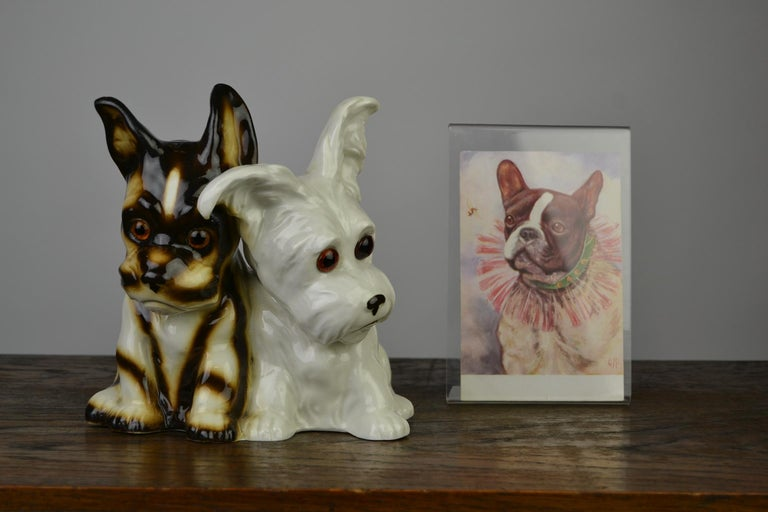 Porcelain Perfume Lamp with Two Dogs, Germany, 1950s For Sale 15