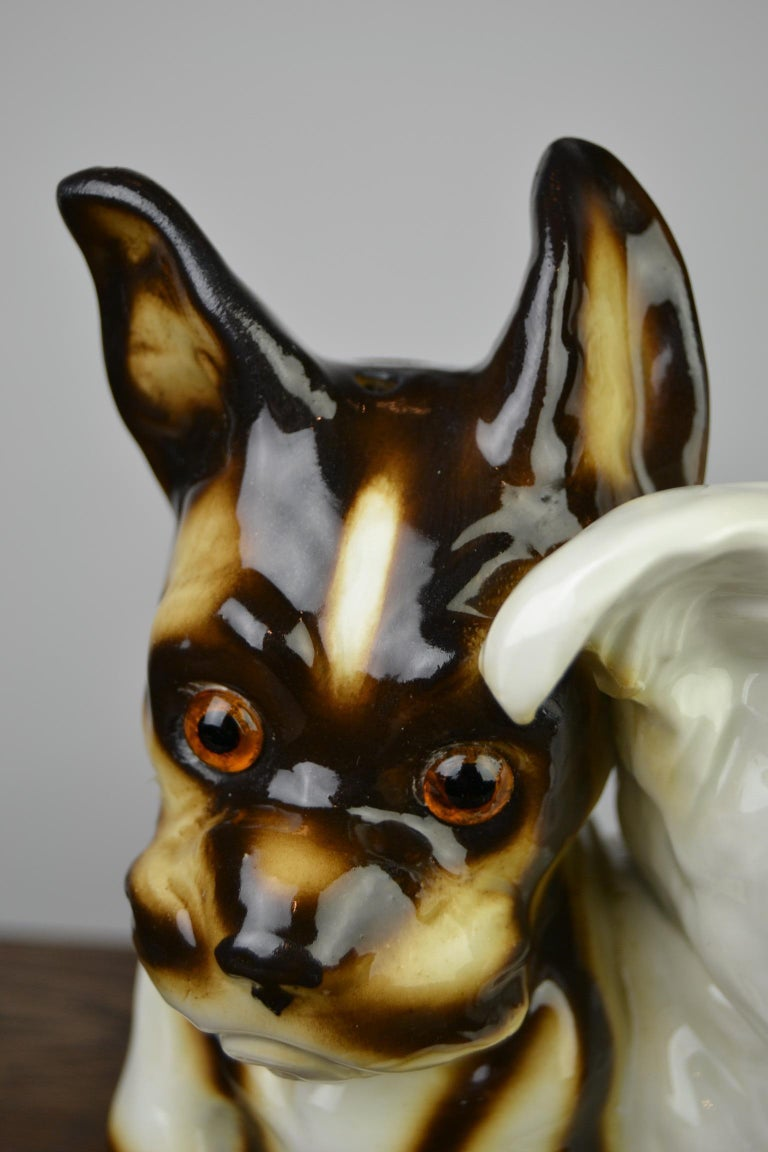 20th Century Porcelain Perfume Lamp with Two Dogs, Germany, 1950s For Sale