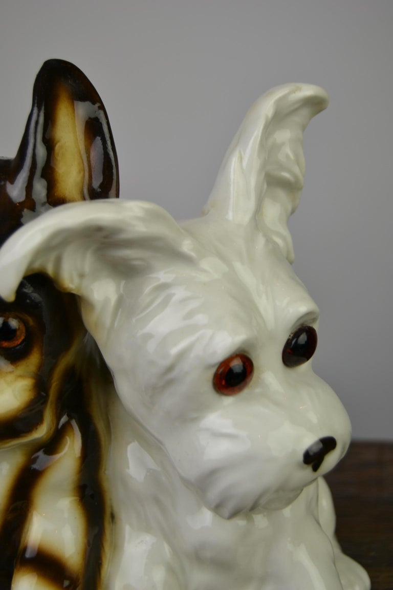 Porcelain Perfume Lamp with Two Dogs, Germany, 1950s For Sale 3