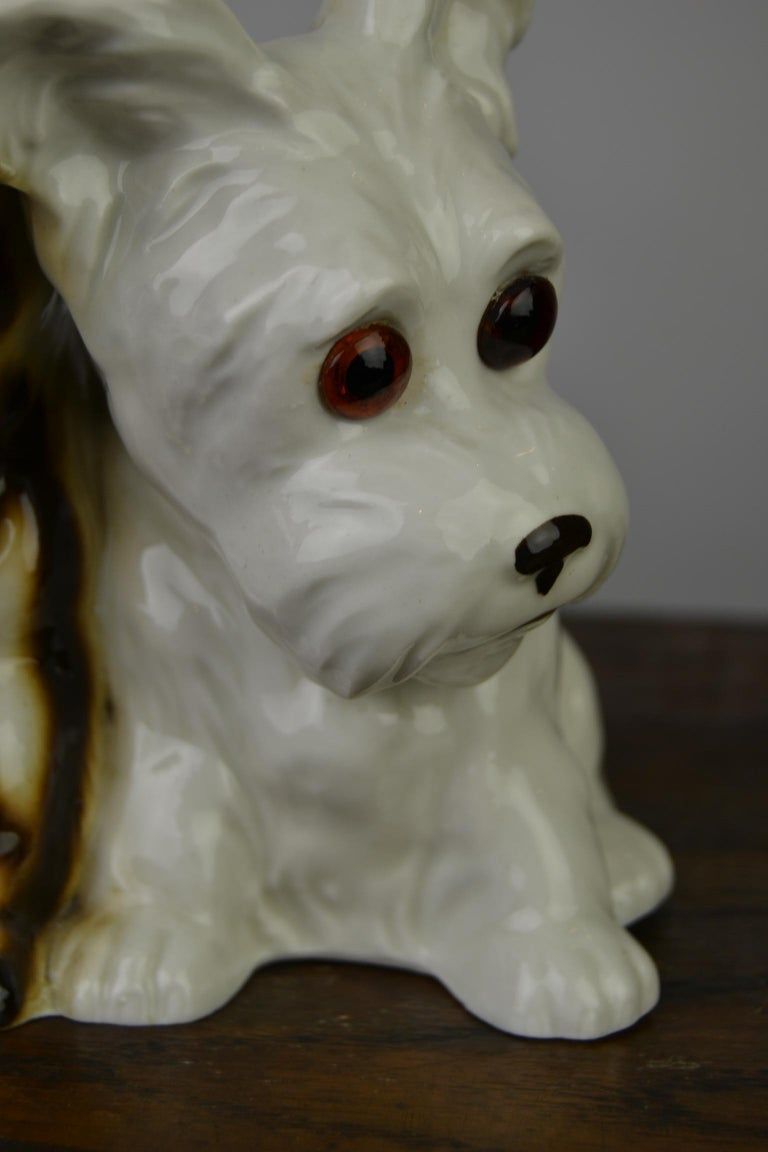 Porcelain Perfume Lamp with Two Dogs, Germany, 1950s For Sale 4