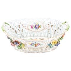 Porcelain Pierced Basket