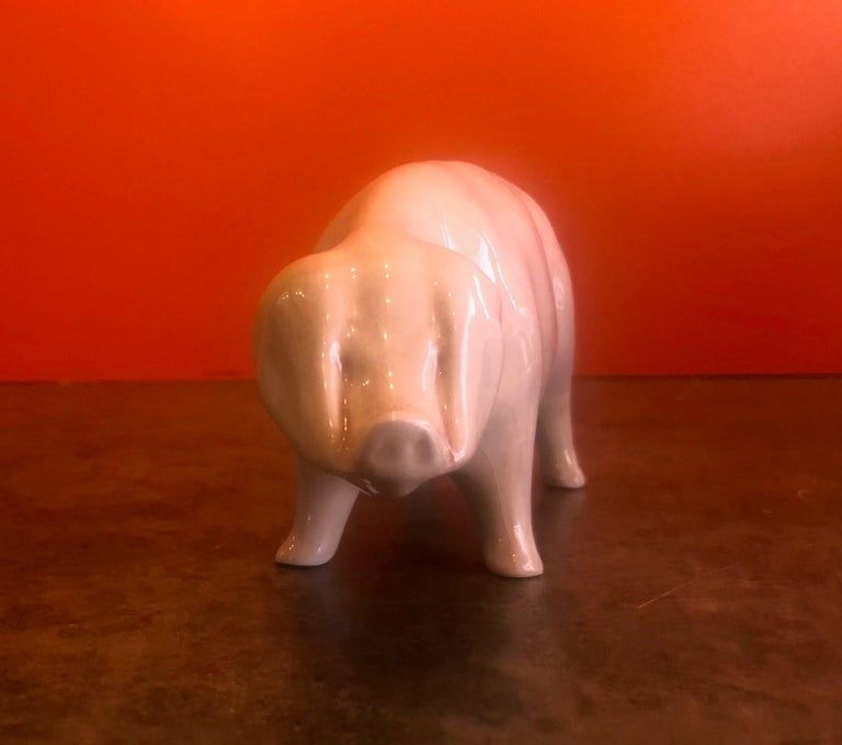 English Porcelain Piggy Bank by Bovey Pottery For Sale