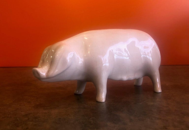 Porcelain Piggy Bank by Bovey Pottery For Sale 1