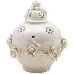Porcelain Pot-Pourri Vase in the Style of Saint-Cloud by Didier Gardillou
