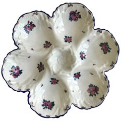 Porcelain Roses Oyster Plate Limoges, circa 1920