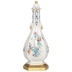 Porcelain Sake Bottle, Probably Chantilly, France, 18th Century