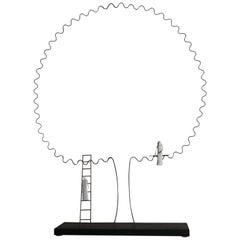 "Porcelain Sculpture Table lamp ""I'm joining you"", France"