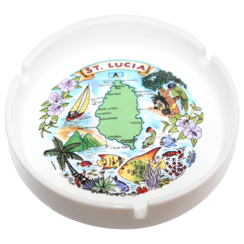 Porcelain St Lucia Collector Travel Ashtray Vide Poche