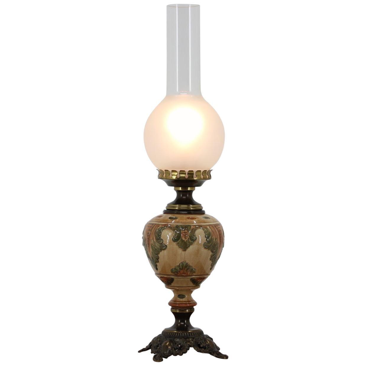 Porcelain Table Lamp, 1950s