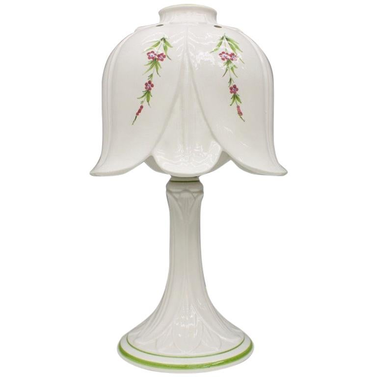 Porcelain Table Lamp By Bassano, Italy, 1960s For Sale