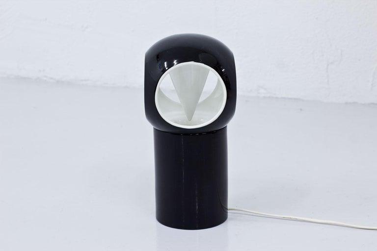 Scandinavian Modern Porcelain Table Lamp by Carl-Harry Stålhane, Sweden For Sale