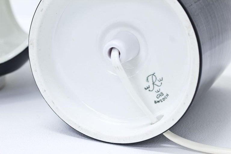 Porcelain Table Lamp by Carl-Harry Stålhane, Sweden For Sale 2