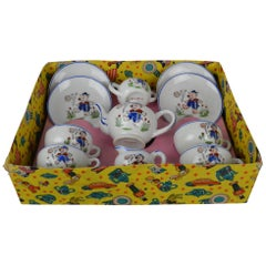 Porcelain Tea Set for Children, Pig Toy Tea Set, Foreign, Made in Japan