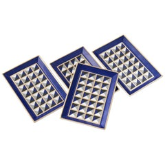 Porcelain Tray with Geometric Pattern