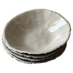 Porcelain Urchin Dish Set of Four