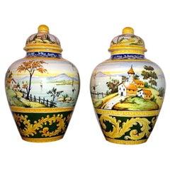 Hand Painted Italian Urns