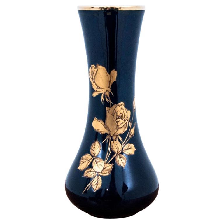 Porcelain Vase, Echt Cobalt Blue, Germany, KPM Bavaria