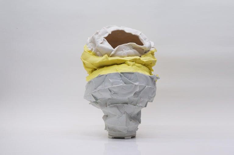 Porcelain vase handsculpted by Monika Patuszynska Genealogy (2019)/ on adjusting Dimensions: H. 52 cm Materials: Porcelain   Born: 1973, Warsaw, Poland  1993- 1994 Den Danske Husflidshojskole, Kerteminde, Denmark 1994- 1999 Academy of Fine