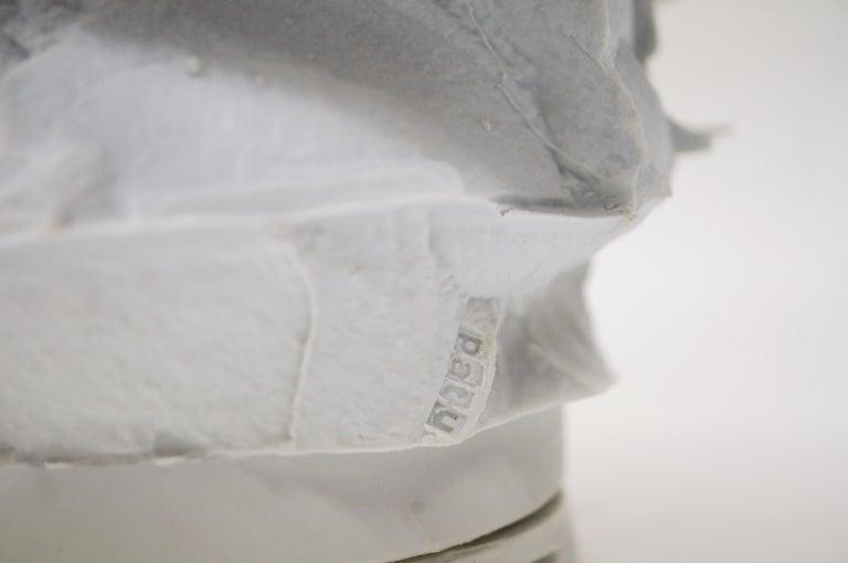 Contemporary Porcelain Vase Handsculpted by Monika Patuszyńska For Sale